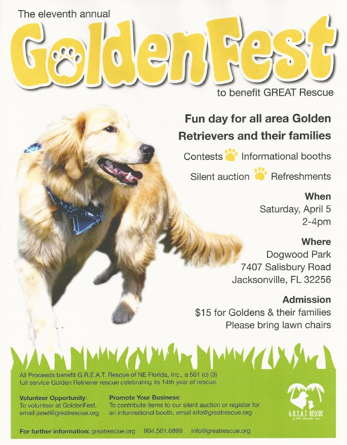 Goldenfest April 5th 2014 at Dogwood Park
